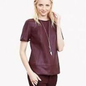 NWT, Banana Republic Burgundy Faux top